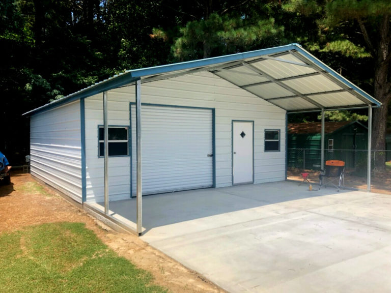 Shed Combo on concrete pad