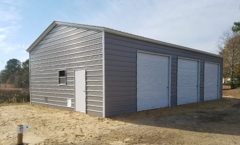 Metal Workshop with garage doors